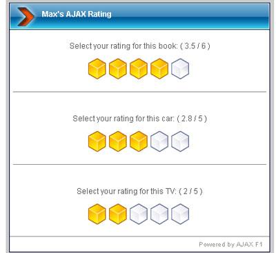 Max's AJAX Rating System