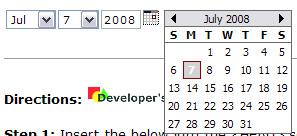 Jason's Date Input Calendar