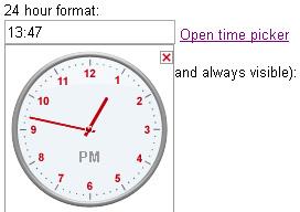 JavaScript Time Picker