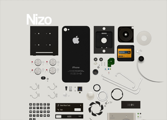 iOS app website design: Nizo for iPhone